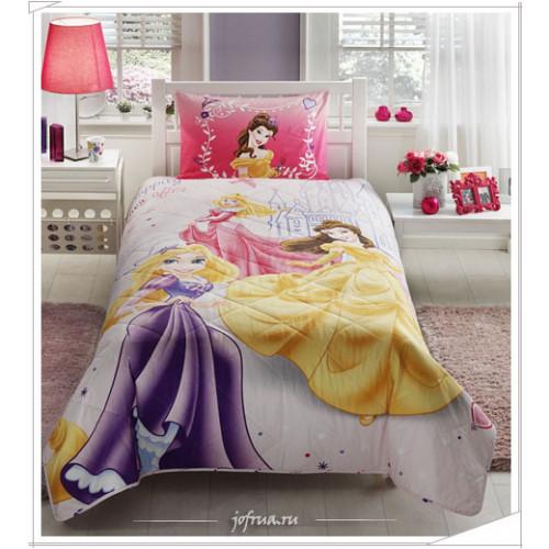 Детское покрывало Princess Happily 1.5-спальное