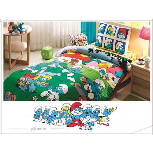 Детское постельное белье Смурфики