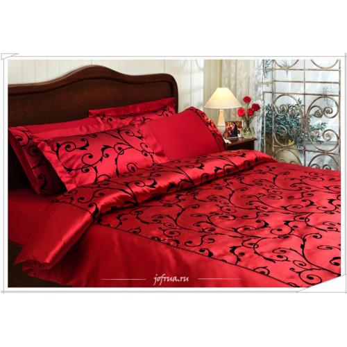 Постельное белье Tivolyo Asmara Flock red евро