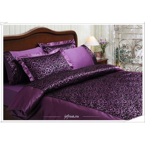 Постельное белье Tivolyo Christina Flock (фиолетовое) евро