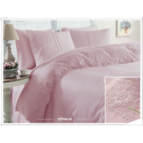 Свадебное постельное белье Gelin Home Donna (розовое) евро
