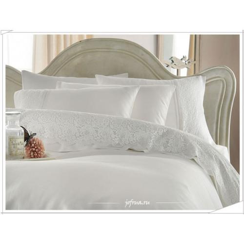 Свадебное постельное белье Gelin Home Evin (белое) евро