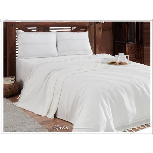 Набор с вафельным пледом Gelin Home Truva (белый) 2-спальный