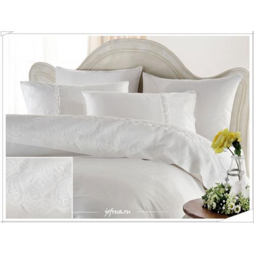 Свадебное постельное белье Gelin Home Charlotte (белое) евро