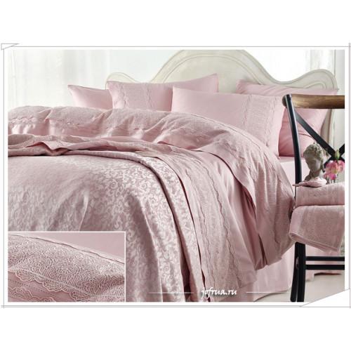 Свадебный набор Gelin Home Beren (розовый) евро