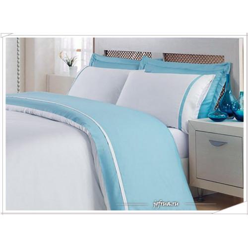 Постельное белье Ecocotton Basic (голубое) 1.5-спальное