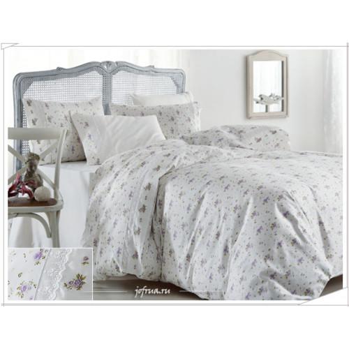 Свадебное постельное белье Gelin Home Roza (лиловое) евро