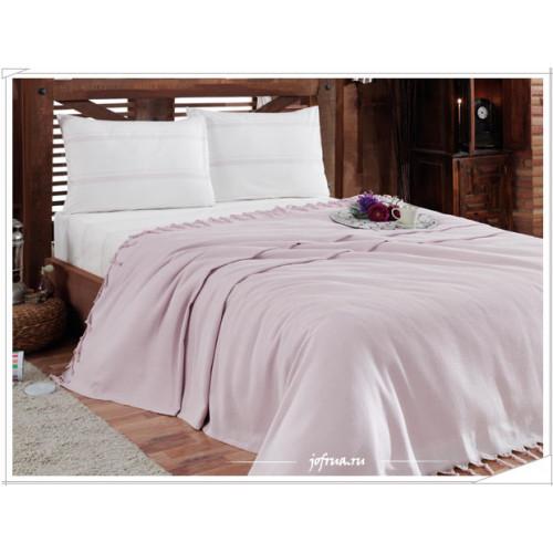 Набор с вафельным пледом Gelin Home Truva (лиловый) 2-спальный