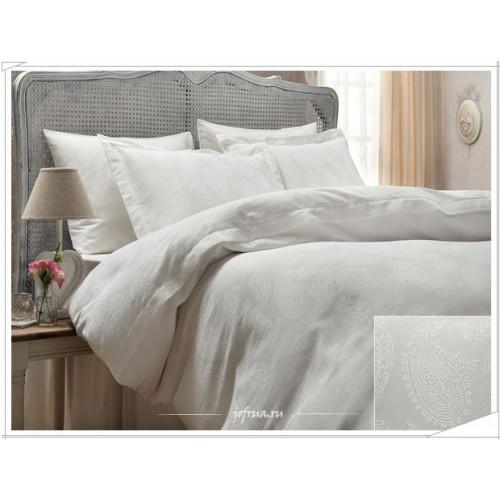 Свадебное постельное белье Gelin Home Sal Jakarli (белое) евро