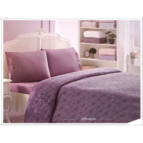Набор с покрывалом Tivolyo Baroc (фиолетовый)