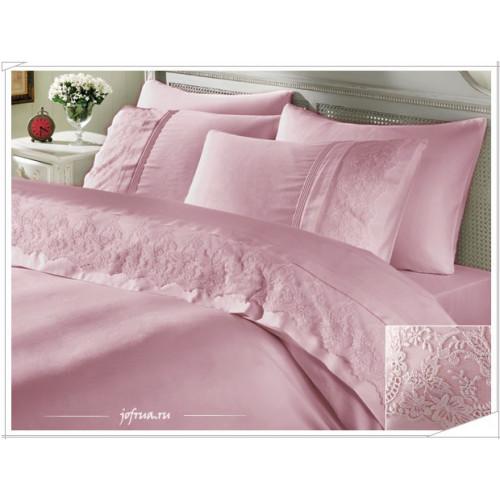 Свадебное постельное белье Gelin Home Ezgi (розовое) евро