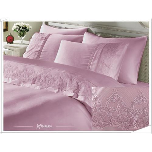 Свадебное постельное белье Gelin Home Ezgi (лиловое) евро