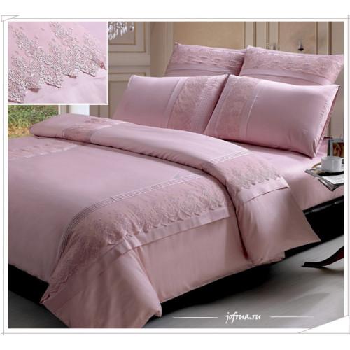 Постельное белье Kingsilk LS-007 (розовое)