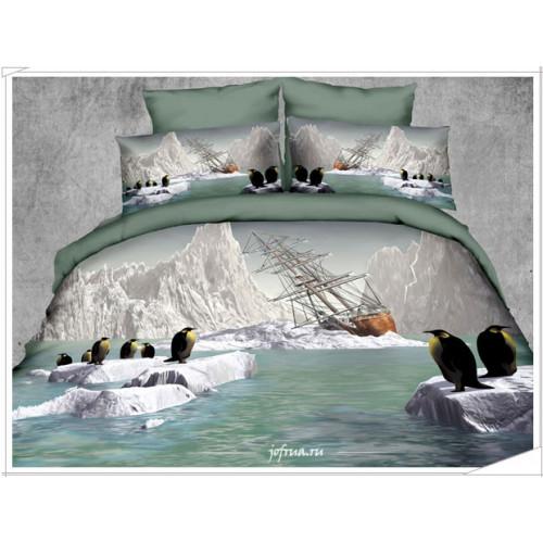 Пост. белье Kingsilk Seda PX-03 Императорские Пингвины 2-спальное