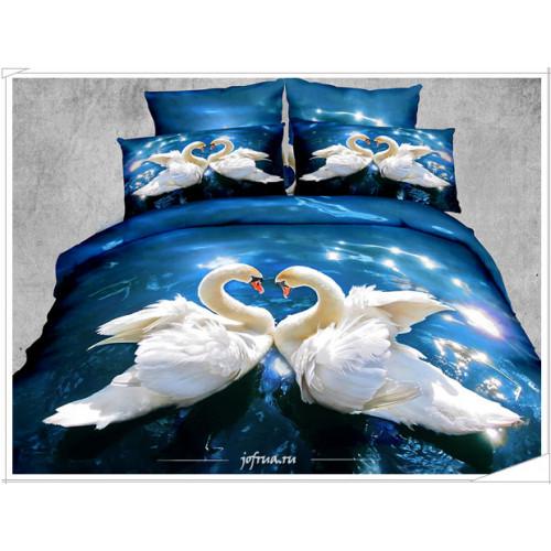 Постельное белье Kingsilk Seda PX-18 Белые Лебеди