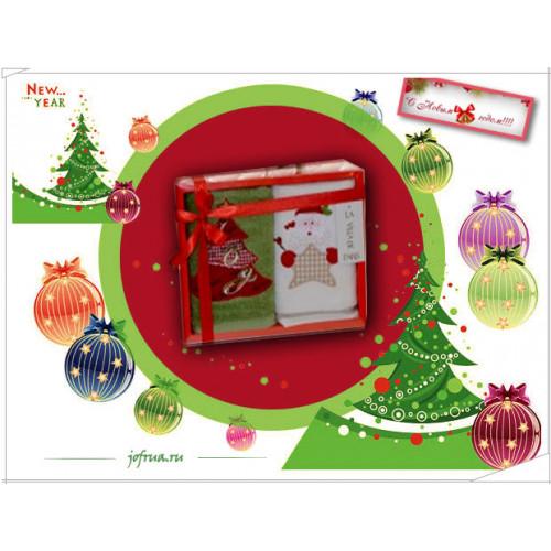 Набор полотенец La Villa Christmas Дед Мороз-Ёлка (2 предмета)