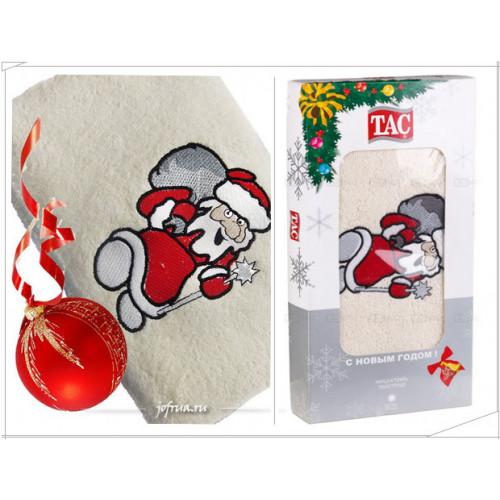 Подарочное полотенце TAC Santa Claus (кремовое)