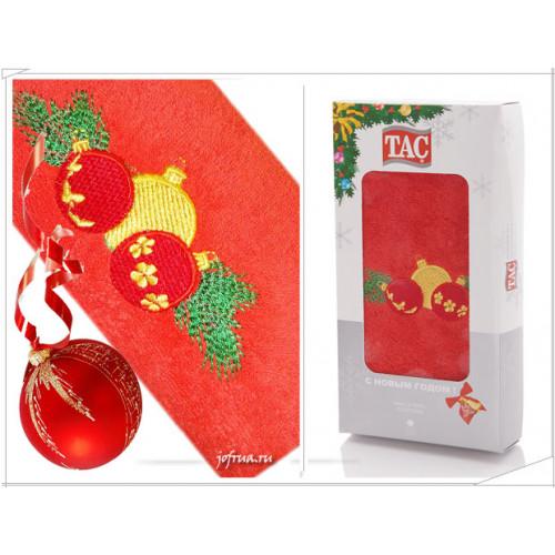 Подарочное полотенце TAC New Year Bells (красное)