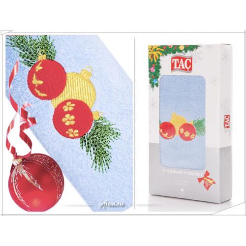 Подарочное полотенце TAC New Year Bells (голубое)