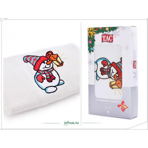 Подарочное полотенце TAC Snemand Снеговичок (белое)