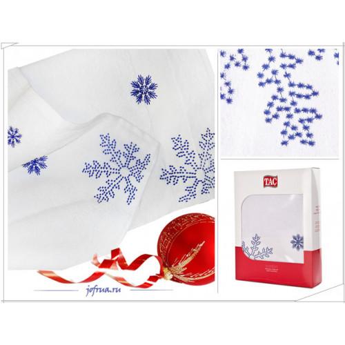 Набор полотенец TAC Snow Снег (белый-голубой, 2 предмета)