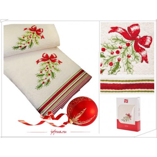 Набор полотенец TAC Wintery Рождеств. Бантики (кремовый, 2 пр.)