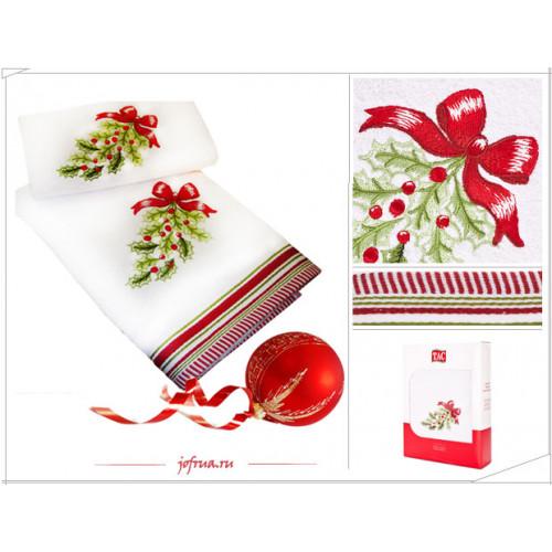 Набор полотенец TAC Wintery Рождеств. Бантики (белый,2 пр.)