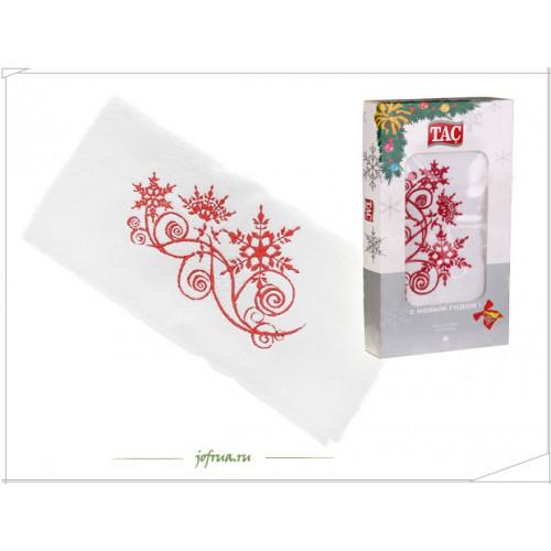 Подарочное полотенце TAC Snow Picture Снежный Узор (белое)