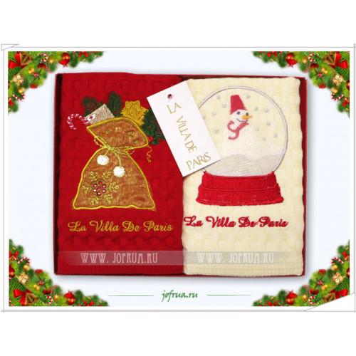 Набор полотенец La Villa Снеговик (2 предмета)