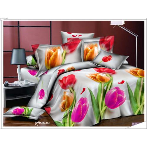 Постельное белье Kingsilk Seda Тюльпаны PL-11