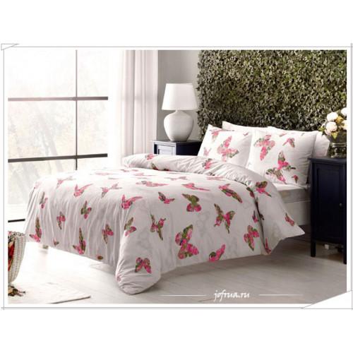 Постельное белье TAC Rosalie Бабочки (розовое)