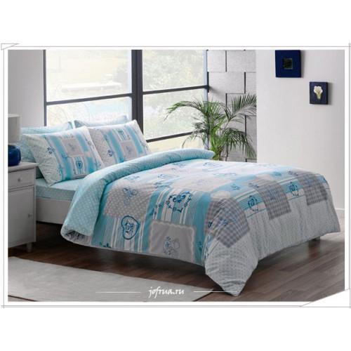 Постельное белье TAC Selby (голубое)