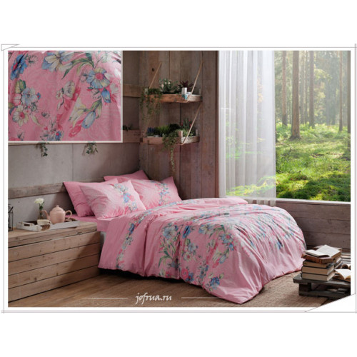 Постельное белье TAC Fleur (розовое) евро