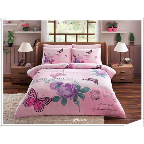 Постельное белье TAC Nina Бабочки (розовое)