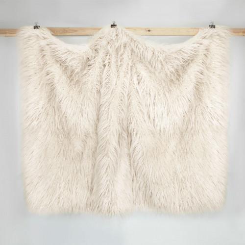 Плед искусственный мех Arya Vivense (бежевый) 130x170