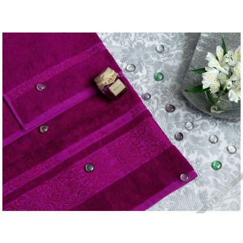 Полотенце TAC Bamboo Elegance (фуксия)