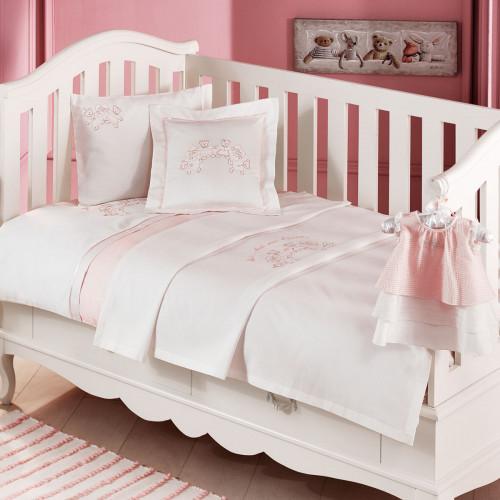 Набор в кроватку с покрывалом Tivolyo Family (розовое)