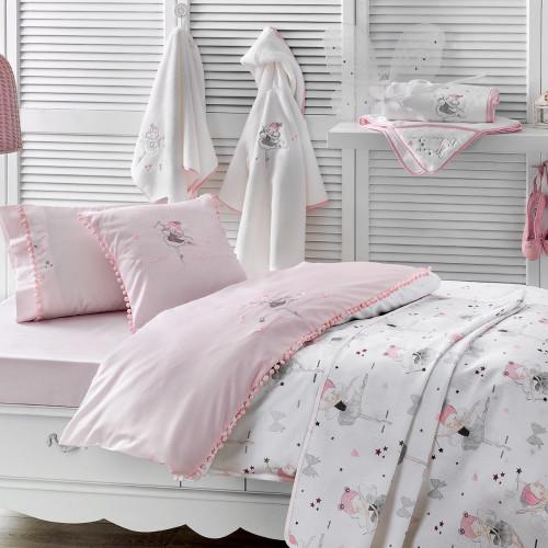 Набор с покрывалом-пике Tivolyo Miss Balerina с вышивкой (розовый)