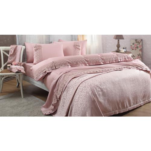 Свадебный набор Gelin Home Caroline (розовый) евро