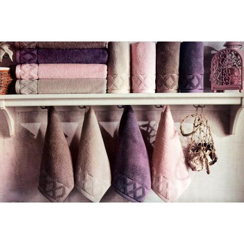 Набор полотенец La Villa Clamp (розовый) 3 предмета