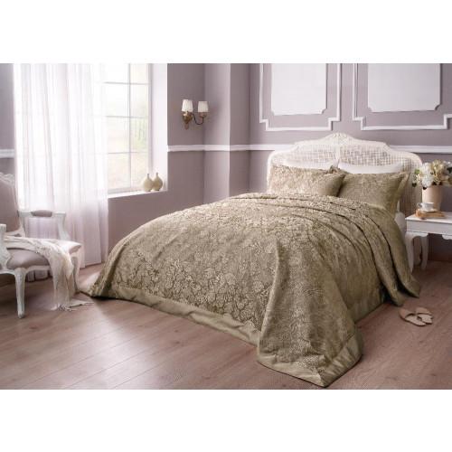 Покрывало Tivolyo Home Dante (коричневое) 260x260