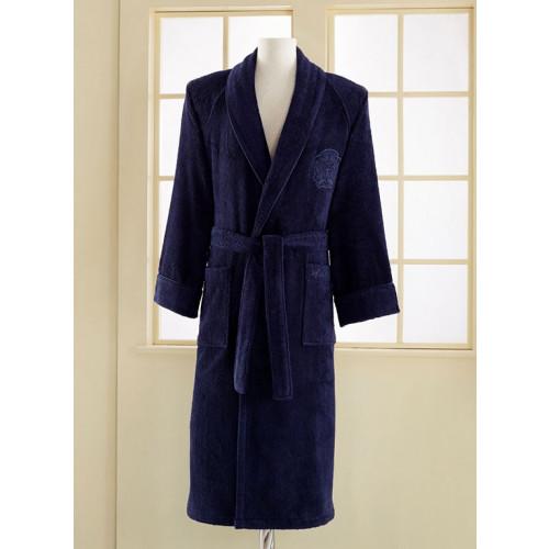 Халат мужской Soft Cotton Deluxe (фиолетовый)