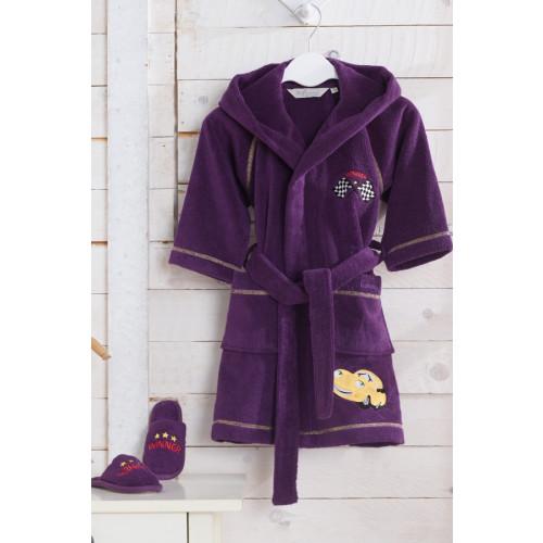 Халатик детский Soft cotton Пилот Pilot (фиолетовый)
