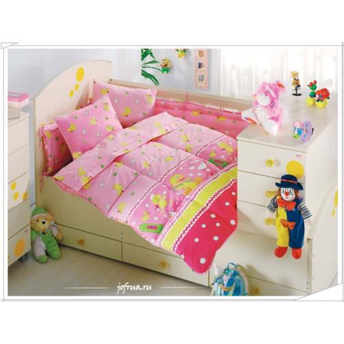 Детское белье в кроватку Altinbasak Vakvak Утенок (розовое)