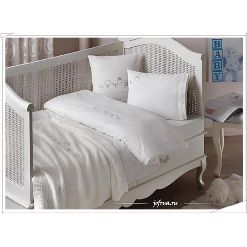 Детское белье в кроватку с покрывалом Tivolyo Pato (голубое)