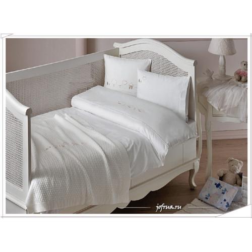 Детское белье в кроватку с покрывалом Tivolyo Pato (розовое)