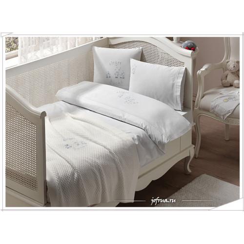 Набор в кроватку с покрывалом Tivolyo Singer Ducks (голубой)