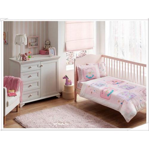 Детское белье в кроватку TAC Baby Game (розовое)