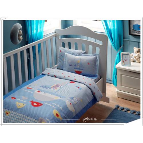 Детское белье в кроватку TAC Baby Sea (голубое)