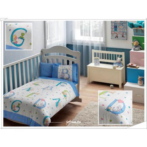 Детское белье в кроватку TAC Sweet Animals (голубое)